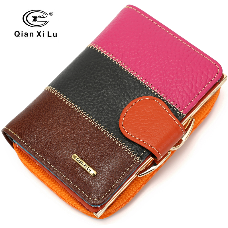 2018 Fashion Brand Purse Coin Wallet Women Cowhide Leather Small Wallet Money Card Holde ...