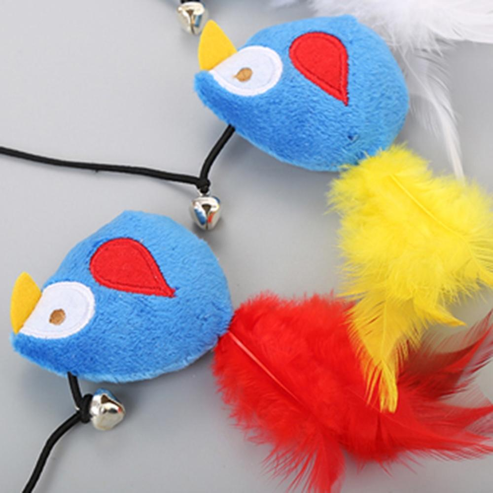 1PC Cat Toy Pet Toy High Quality Feather Metal Plastic Small Bell Funny Cat Stick Pet Interactive Toy Pretty Toy in Cat Toys from Home Garden