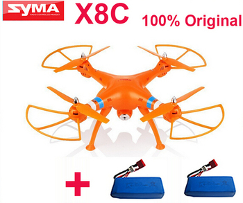 (Get an extra battery) original Syma X8C Venture 2.4G 4ch 6 Axis with 2MP Wide Angle Camera RTF RC Helicopter like DJI Phantom