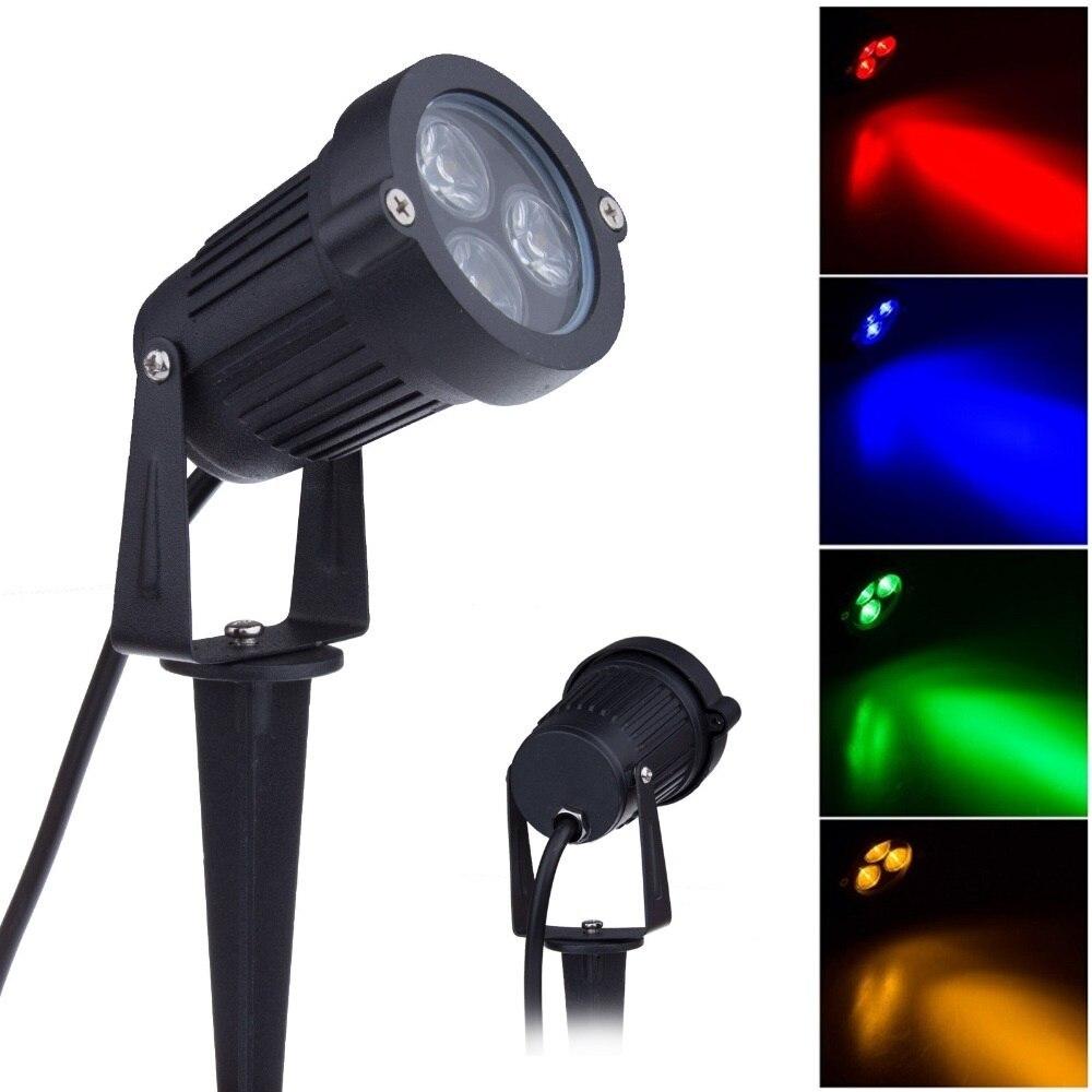 防水屋外の庭の芝生ランプ 220V 110V 12V 9 ワット LED 芝生風景ガーデンライトスパイク電球 IP65 屋外スポット照明
