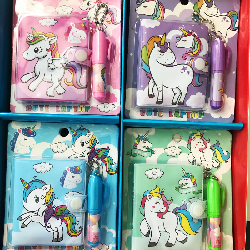 1X Kawaii Unicorn Set 1 Notebook+1 Ballpoint Pen School Office Supply Student Stationery Paper Writing G9-28