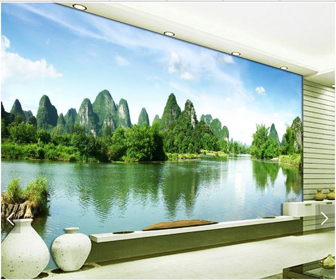 Custom 3d Mural Wallpapers Hd Landscape Mountains Lake: Custom 3d Photo Wallpaper 3d Wall Murals Wallpaper Hd