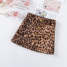 Baby Girls Leather Leopard Skirts 2019 Autumn Winter A-Line Skirt for Girl Casual Brand Children Clothes 2-7Y Kids Toddler Skirt