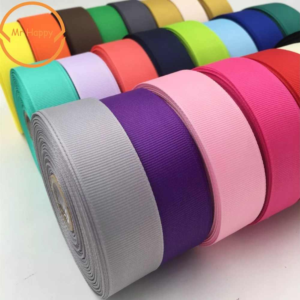 Polyester Plain Grosgrain Ribbons 6/10/15/25/38mm 5yards/lot Satin Ribbon For gift wrap DIY Hair Bow Wedding Party Decoration