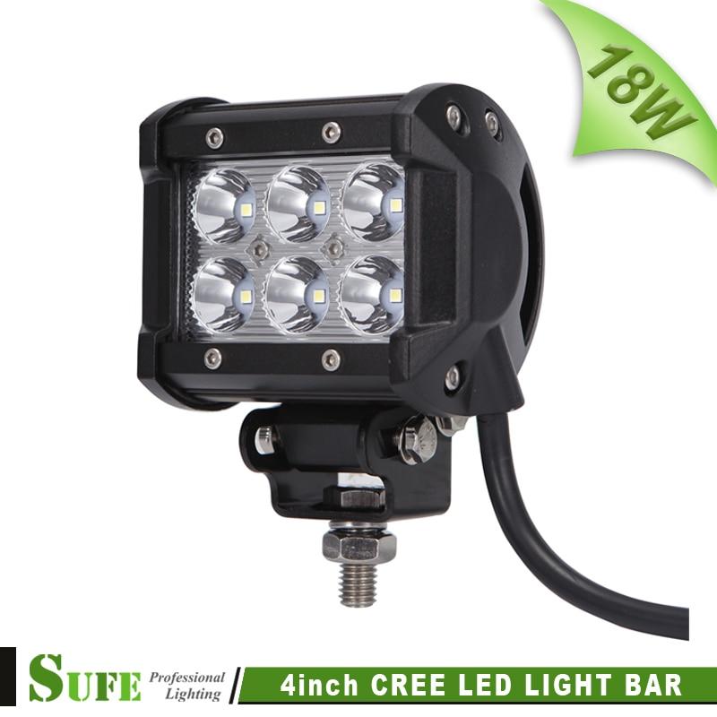 """Sufe 1 шт. 4 """"18 Вт 1800LM светодиодный свет работы внедорожник ATV 4×4 дальнего света бар для внедорожнике мотоцикл противотуманные светлое пятно Нав…"""