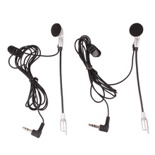 New Motorcycle Motorbike Helmet to Helmet Intercom Grip Lever Covers Set 2 Headsets Communication System Earphone + Mic
