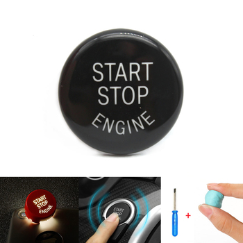 Black Car Engine Start Stop Switch Button Replace Cover For BMW 3 5 Series E60 E90 E91 E92 E93 X1 E84 X3 E83 X5 E70 X6 E71 E72 image