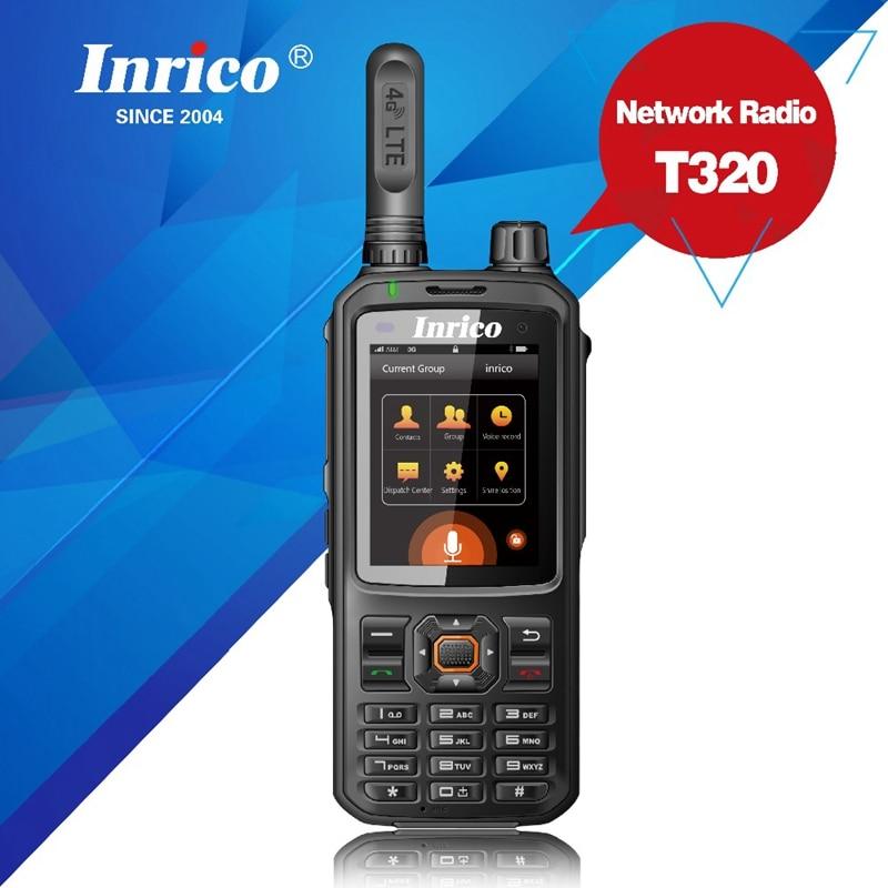 T320 4G LTE network intercom transceiver mobile phone radio walkie talkie SIM card GPS WCDMA two way radio global call