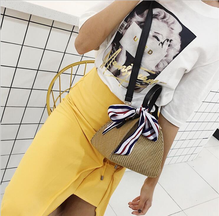 Summer Tricot New Tissé Messenger 2018 De Plage Designer Célèbre D'épaule Paille Femmes Bohème Triangulaire Sacs Dames Mini Gland 1wtwvqU