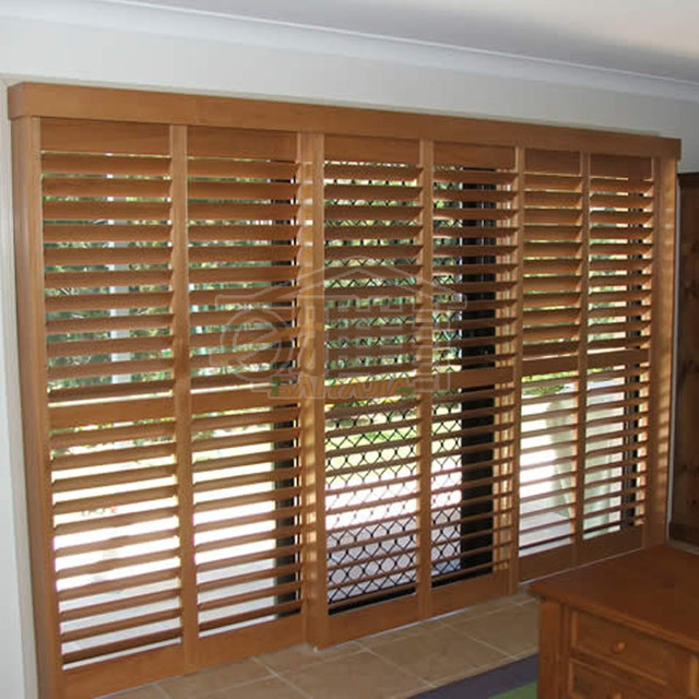 Wood Blinds Wooden Movable Ventilation Curtain Off The Living Room Of European Basswood Venetian Folding
