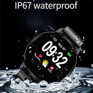Image 2 - LIGE inteligentna bransoletka mężczyzna kobiet IP67 wodoodporny zegarek do Fitness pełny ekran dotykowy ekran może kontrolować Playback dla androida ios
