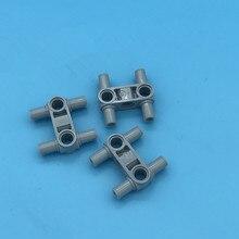 20Pcs/lot Technic Parts Pin Connector Hub Perpendicular 3L with 4 Pins MOC Brick DIY Block Compatible 48989
