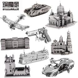 3D Metall Puzzle Modell Für Erwachsene Kinder Edelstahl Intellektuelle Entwicklung Sammlung Pädagogisches Manuelle Puzzle Spielzeug Geschenk