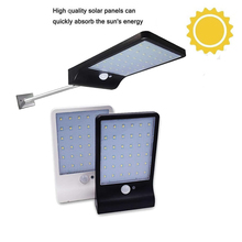 Aluminum pole 48/36 LED Solar powered PIR Motion Sensor solar Light Street Yard Path Home Garden Security lamp spotlights