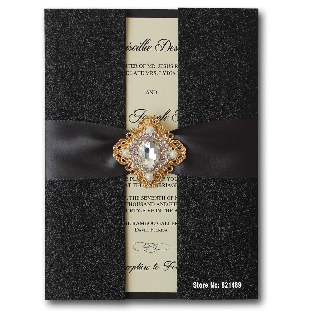 Wedding Invitations Stores: Aliexpress.com : Buy Black Wedding Invitations, Shiny