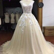fsuzwel Fmogl Scoop A-line Wedding Dresses 2019 Bride Dress