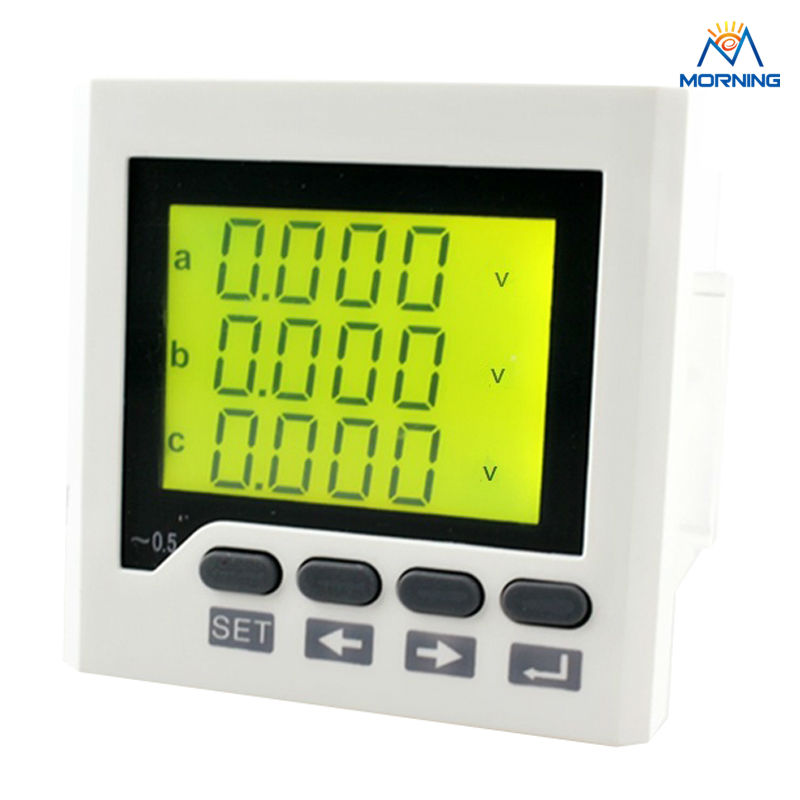 3AV6Y-1T panel size 72*72 mm low price AC three phase voltmeter, LCD digital voltage meter with rs 485 three phase combination meter voltmeter amperemeter