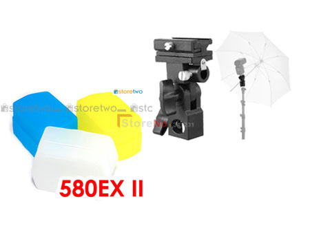 Flash Stand Support B + 580EX Flash Diffuseur Softbox pour caméra Flash Chaussures Support Pivotant Lumière Umbrella fo YONGNUO YN-560 YN560