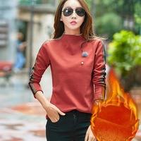 BOBOKATEER Velvet T Shirt Women Tops Fashion Tshirt Long Sleeve T Shirt Women Clothes Tee Shirt