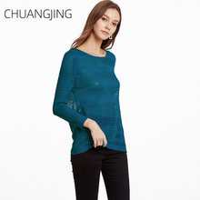 Autumn Winter Casual Knitted Sweater Women Solid O-neck Long Sleeve Hollow Out Pullovers Sweather Ladies Sexy Streetwear Sweater