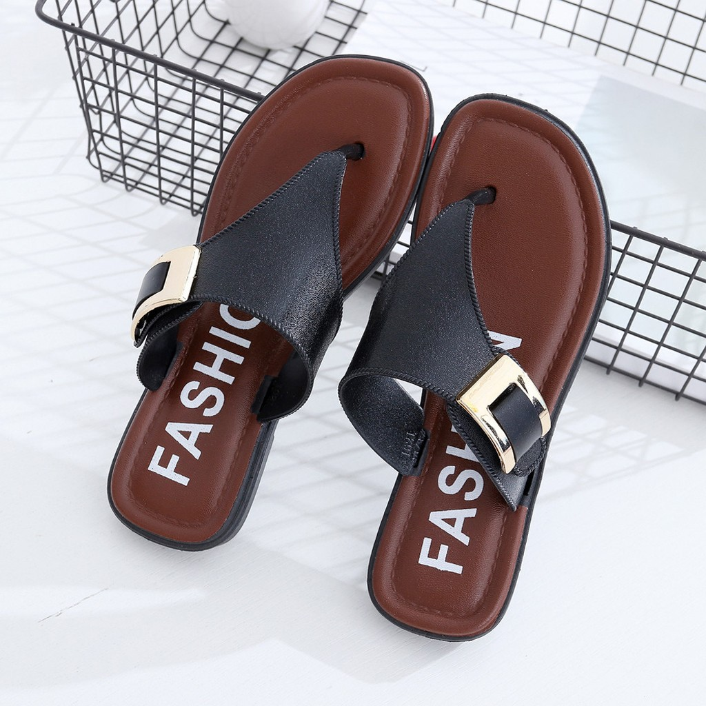 Luxury Womens Flat Shoes Cover Heel Round Toe Casual Beach Women Pretty Sandals Summer Home Flat Flip Flops ShoesLuxury Womens Flat Shoes Cover Heel Round Toe Casual Beach Women Pretty Sandals Summer Home Flat Flip Flops Shoes
