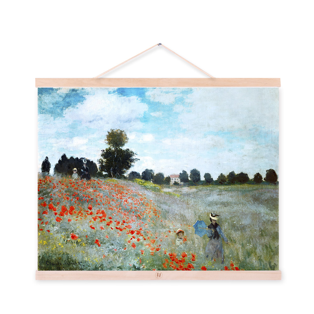 Modern Impressionism Claude Monet Flower Field Landscape A4 Art Prints Poster Rural Wall Pictures Canvas Oil Painting Home Decor