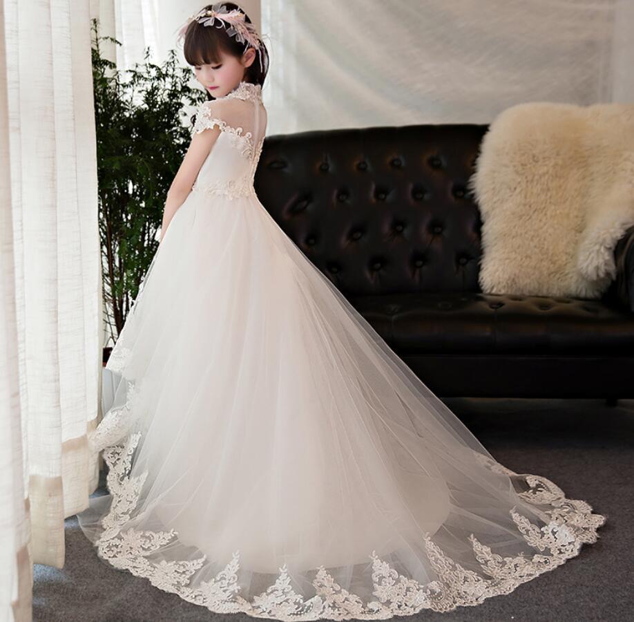 Princesse fleur fille robe d'été Tutu mariage fête d'anniversaire robes pour filles enfants Costume adolescent bal conceptions HW2333