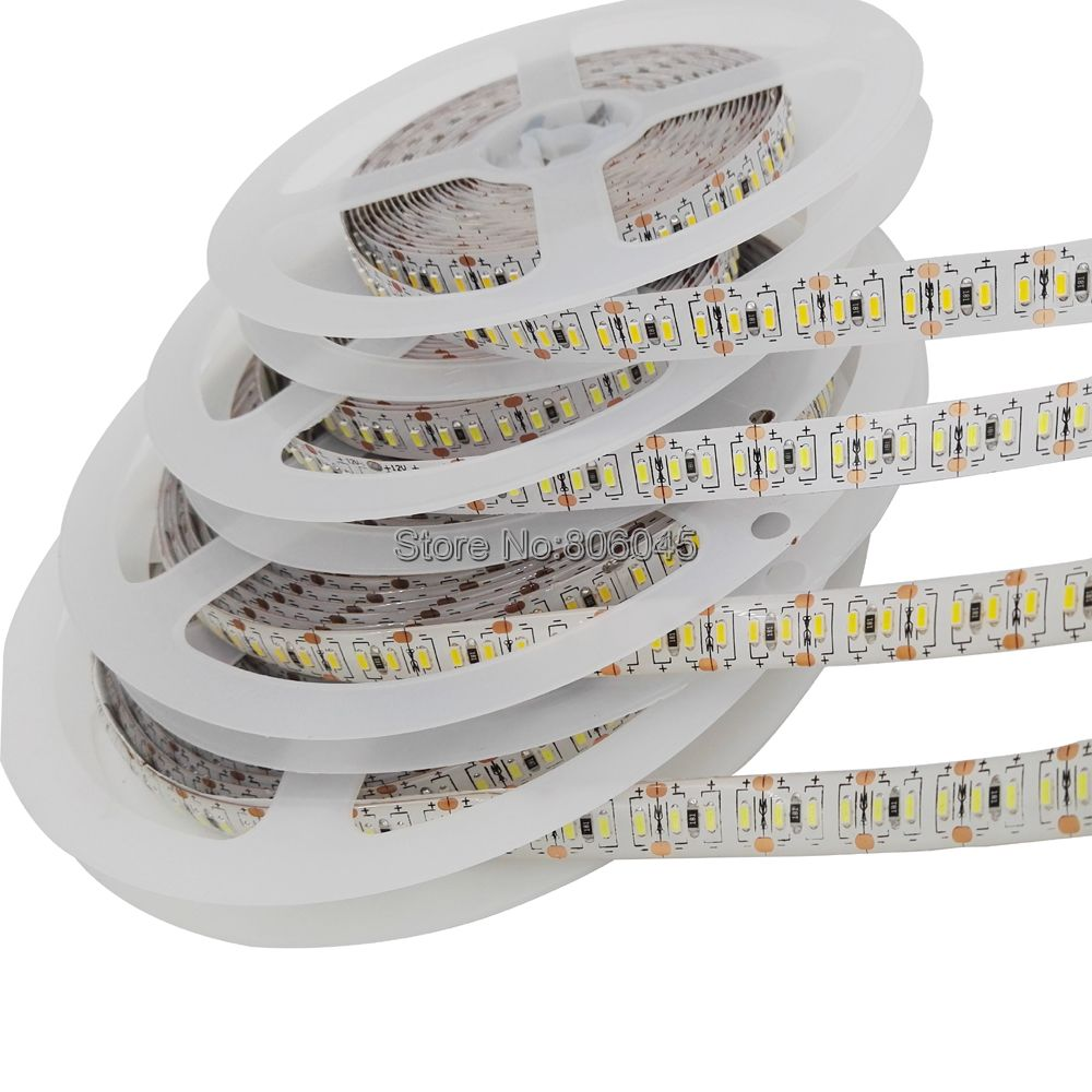 3014 <font><b>LED</b></font> <font><b>Strip</b></font> Light 12V 204 <font><b>LEDs</b></font>/m 5m/lot 1020 <font><b>LEDs</b></font> SMD Tape Ribbon IP20/IP65 <font><b>Waterproof</b></font> Ultra Bright <font><b>White</b></font> Warm <font><b>White</b></font> Blue image