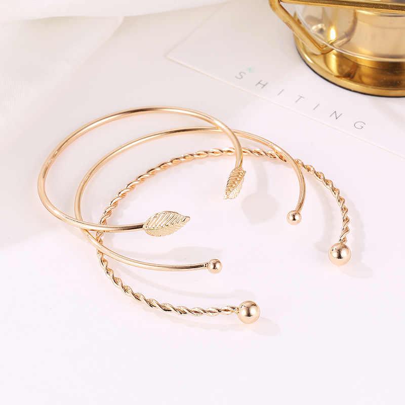 Kobiety bransoletki ze stali nierdzewnej śruba ręka liść ślub opaska na nadgarstek bransoletka mankiet otwarty bransoletka biżuteria torebka z paskiem na nadgarstek