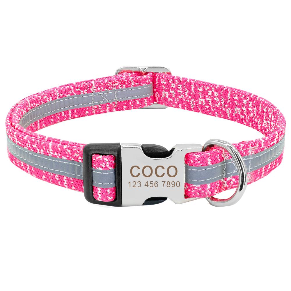 Collar de perro personalizado reflectante 6