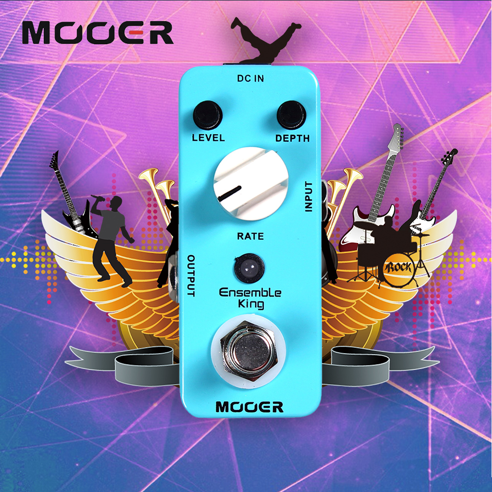 Mooer Pure Analog Chorus Sound Mini Ensemble King Electric Guitar Effect Pedal With True Bypass mooer flex boost guitar effect pedal mini electric effects true bypass with free connector and footswitch topper