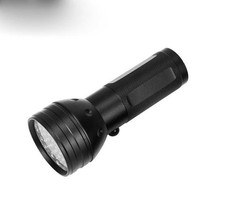 51 led バイオレット懐中電灯 395nm 懐中電灯偽造殺菌ランプ把持ピンセットライト led 照明懐中電灯