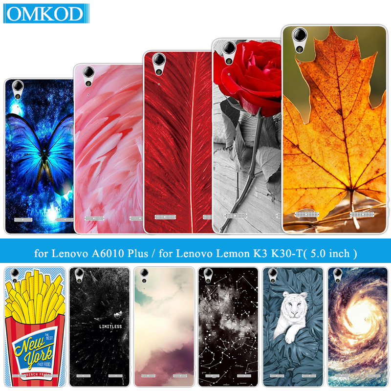 Soft TPU Plumage Phone Cases for Lenovo A6010 Plus & A6000 DIY for Lenovo Lemon K3 K30-T K30-W Skin 5