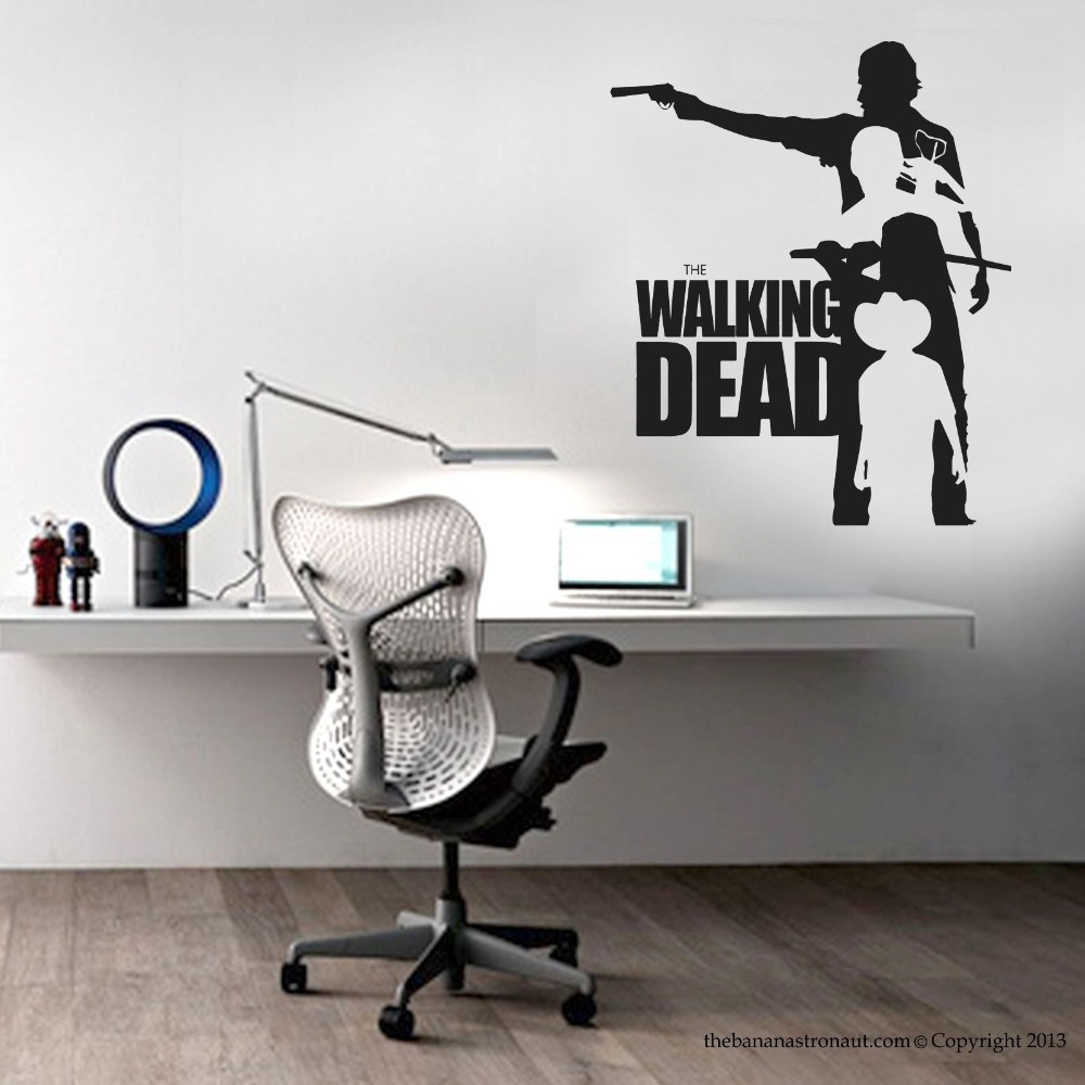 Walking dead vinyl wall sticker walking dead collection mural wall walking dead vinyl wall sticker walking dead collection mural wall art sticker kids room cartoon pvc wall decal home decoration in wall stickers from home amipublicfo Image collections