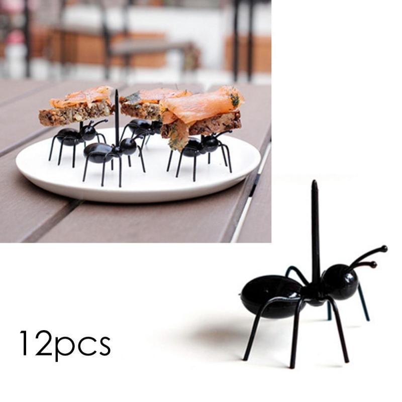 12 հատ հատ վերամշակելի Ant Fruit Fork Պլաստիկ - Խոհանոց, ճաշարան եւ բար