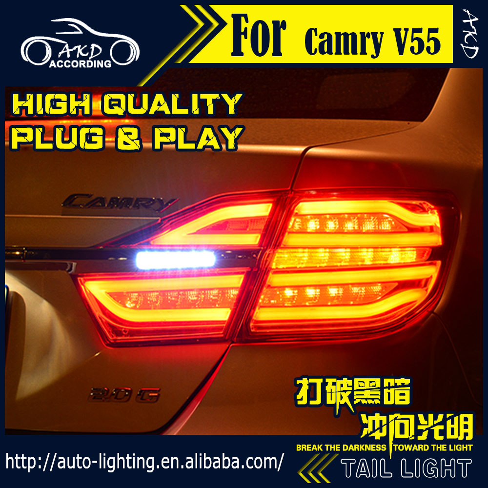 Tail-Lamp Toyota Camry Rear-Lamp-Accessories Signal for V55 LED Drl-Stop Car-Styling