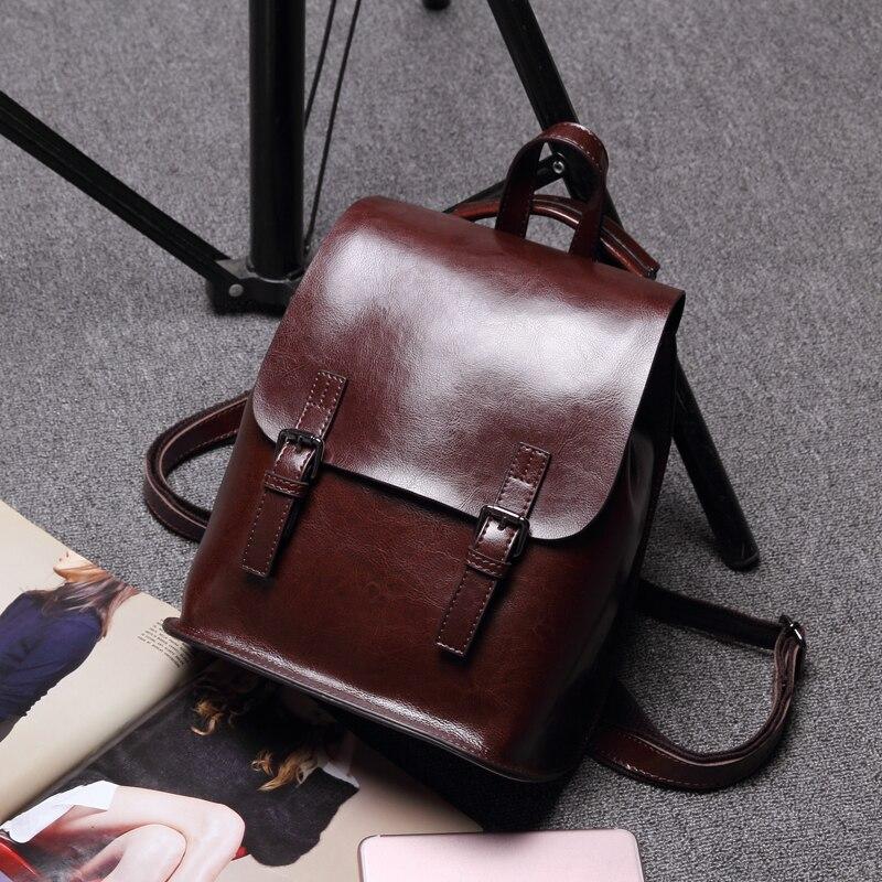 luxury bag fashion backpack women backpack Genuine Leather school bag women Vintage Adolescent Girls Backpacks