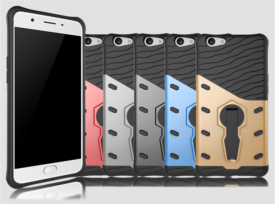 2In1 Shockproof Defender Rugged Armor Hybrid Case With 360 Kickstand Hard Impact Plastic Slim Cover For OPPO A33 A37 A59 F1S R9