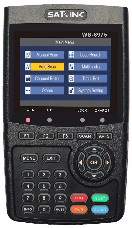 [Genuine] SATLINK WS-6975 DVB-T2 Digital Terrestrial Signal Meter Finder With MPEG-2/MPEG4 H.265 Supports QPSK