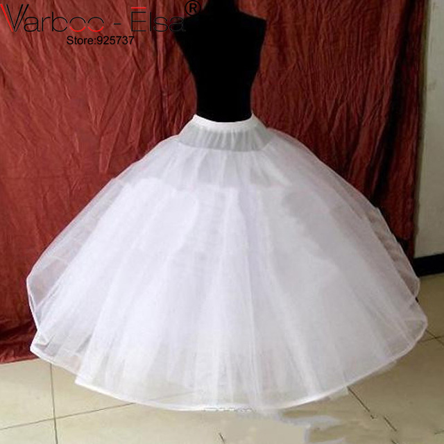 Grande Taille Mariage 2018 White Wedding Underskirt Average Size Petticoat Crinolines Dress Bridal Accessories