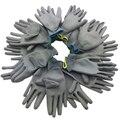2017 Высокое Качество работы перчатки защитные перчатки оптом Фабрика использовать PU покрытие и окрашены палец