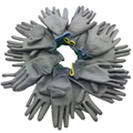 2017 High-quality work gloves protective gloves wholesale Factory use PU coating and painted finger