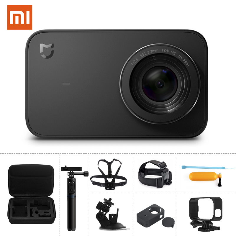 Sport & Action-videokamera Unterhaltungselektronik Obligatorisch Xiao Mi Mi Mi Jia Action Kamera 4 K/30fps Ambarella A12s75 Wifi Unterwasser Wasserdicht Helm Sport Cam