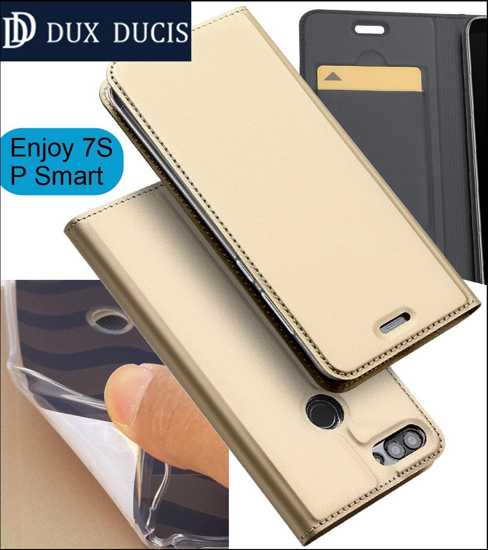 D'origine DUX DUCIS Cas Couverture Pour Huawei Profiter 7 S 5.65 pouce Flip Book Portefeuille En Cuir P Smart Magnétique