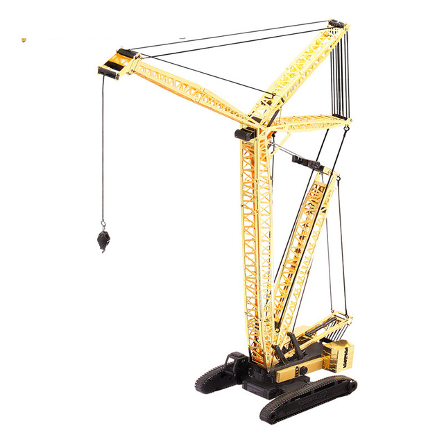 Mobile Crane Revit Family : D metal nano puzzle crawler crane p gk diy laser cut assemble models toys for audit in
