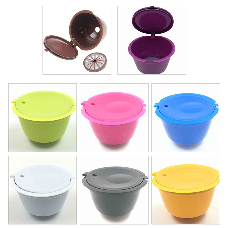 8 Colors Refillable Dolce Gusto Reusable Capsules Coffee Capsules Refill Coffee Fliter Compatible Nescafe Dolce Gusto Capsules
