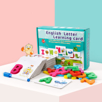 Write and Wipe Off Alphabet Letter Words Kids animals Cards Game Early Learning English Educational Toys for Children Gift