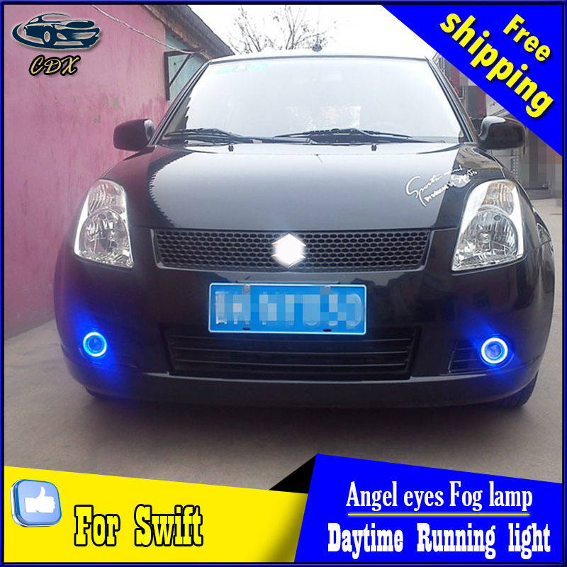 CDX car styling angel eyes fog light  for Swift 2007-2009 year LED fog lamp LED Angel eyes LED fog lamp Accessories cdx car styling angel eyes fog light for toyota verso 2011 2014 led fog lamp led angel eyes led fog lamp accessories