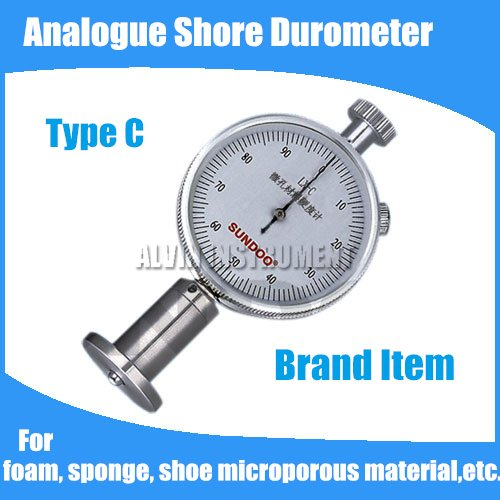 Free shipping Analogue Shore Hardness Tester Meter Rubber shore Durometer Type C For foam,sponge,shoe microporous material,etc. free shipping digital shore hardness tester meter shore durometer rubber hardness tester standards din53505 astmd2240 jisr7215