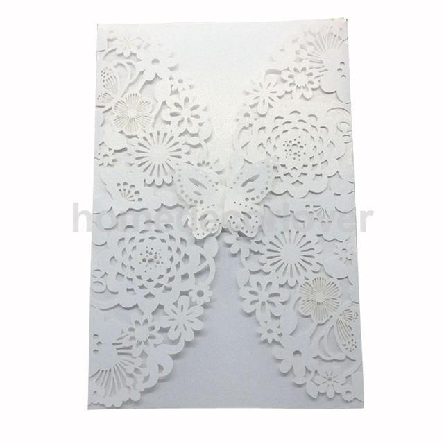 10pcs laser cut flower effect wedding invitation cards personalised 10pcs laser cut flower effect wedding invitation cards personalised white stopboris Gallery